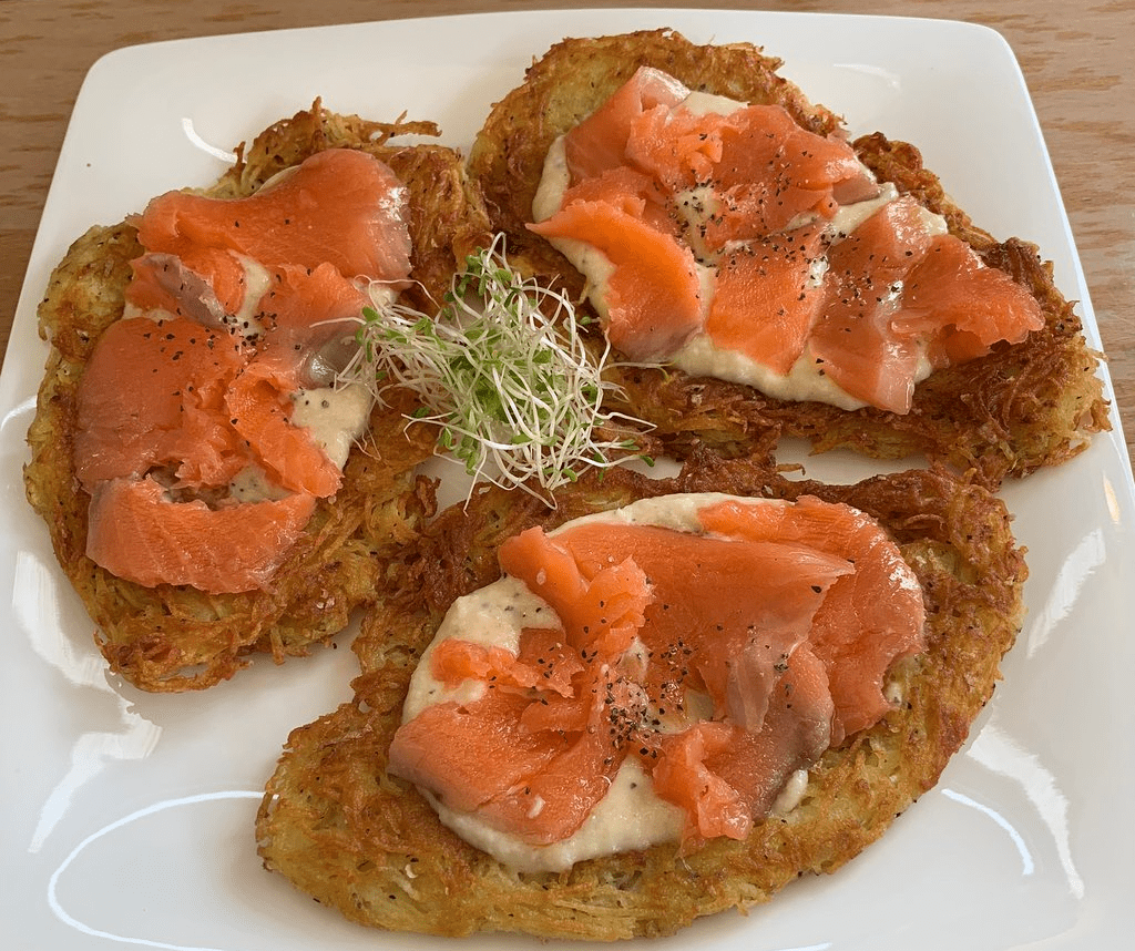 salmon fritter